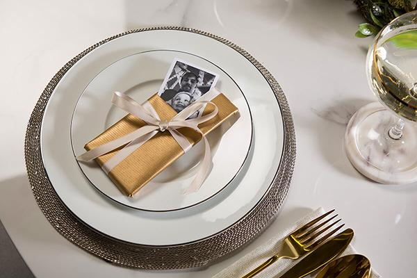 Savoy White Marble Dining Table Place Setting DIY 2