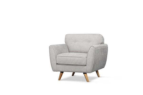 Harlow Dove Grey Armchair
