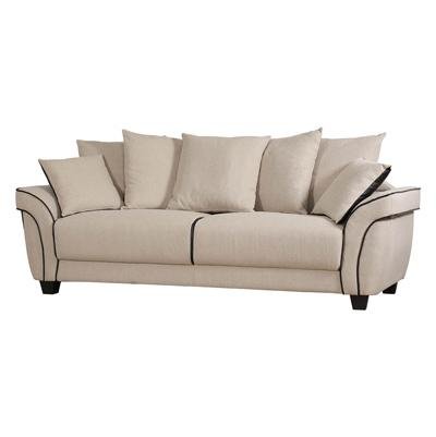 Ascot oatmeal three seater sofa