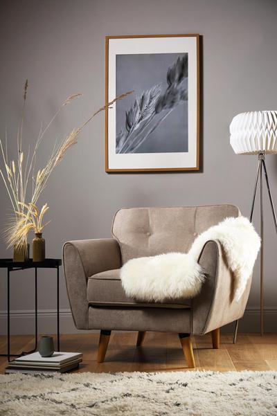 Harlow oatmeal armchair
