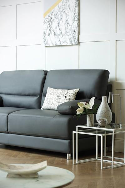 Rocco grey three seater sofa