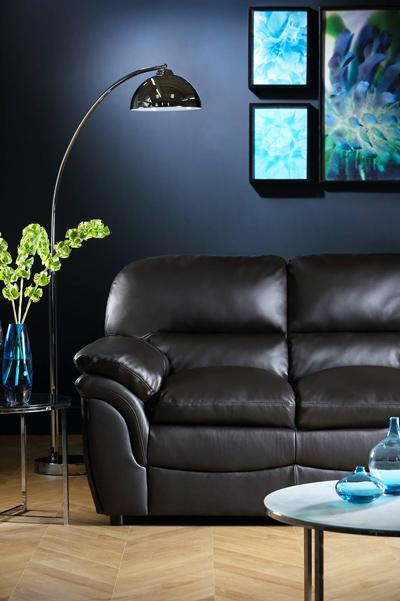 Rochester brown three seater sofa