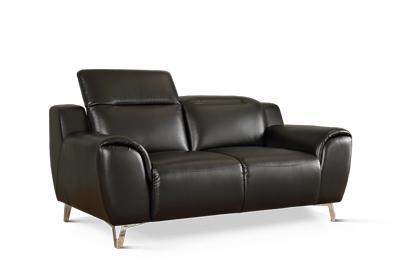Finley black 2-seater sofa