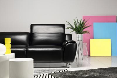 Finley black 3-seater sofa