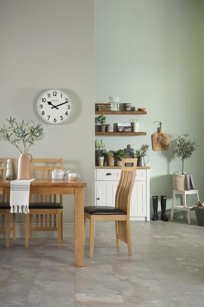 Highbury oak extender table bali chair