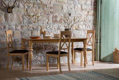 Kensington oak table Kendal brown oak leg