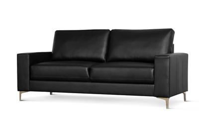 Baltimore black 3 seater