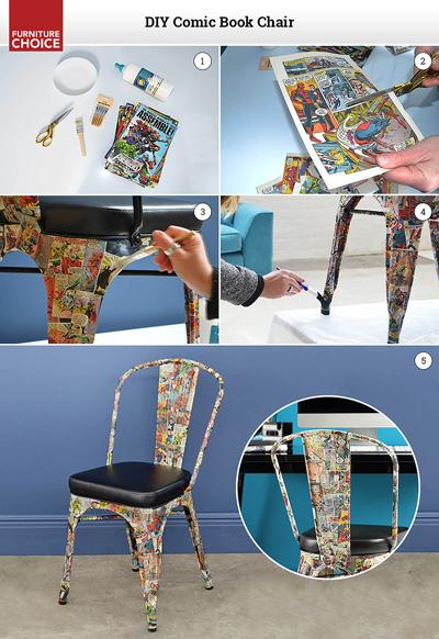 DIY comic book chair