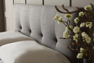 Hexham grey storage bed close up