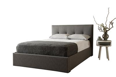Hexham grey storage bed cut out option