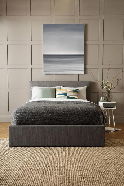 Hexham grey storage bed portrait