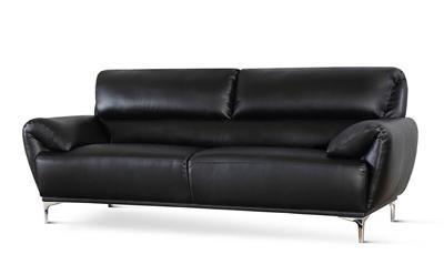 Enzo Black Leather
