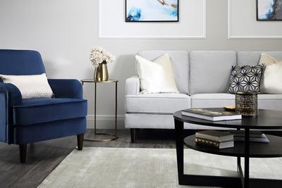Albion dove grey 3 seater sofa
