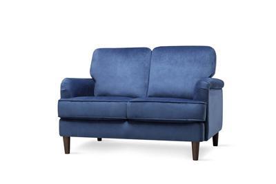 Pembroke blue velvet 2 seater sofa