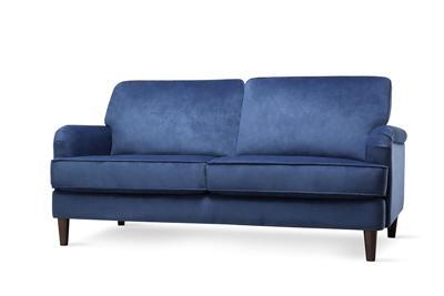Pembroke blue velvet 3 seater sofa