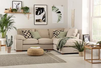 Cassie linen corner sofa