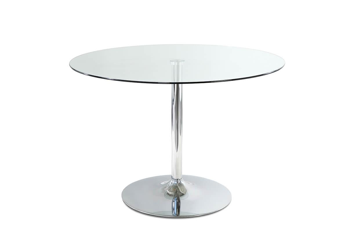 Orbit Round Glass Chrome Dining Table