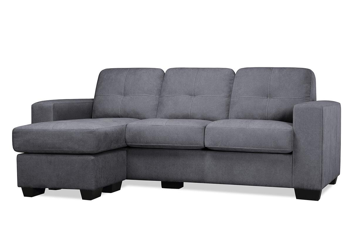 Rio Slate Grey Fabric L Shaped Sofa