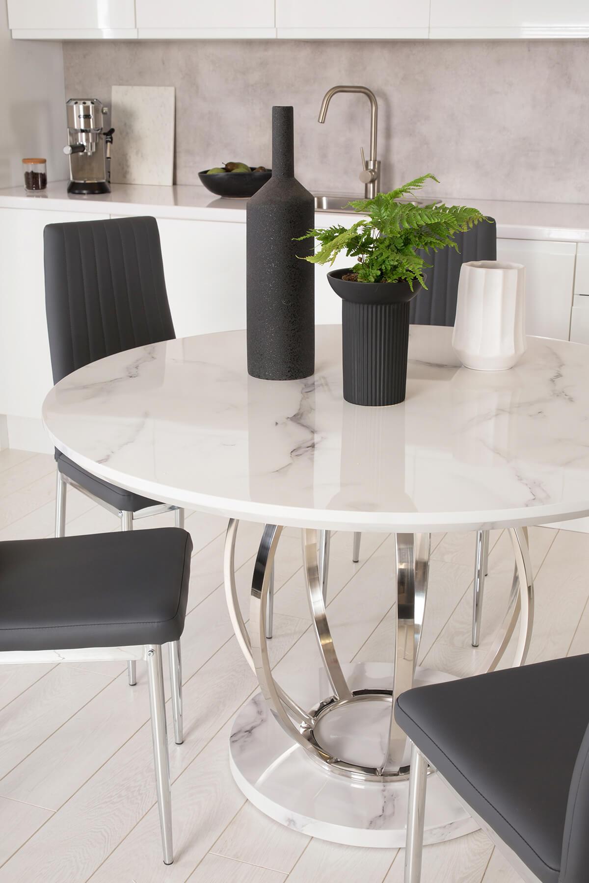 Savoy Marble Dining Set