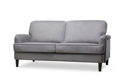 Pembroke grey velvet 3 seater