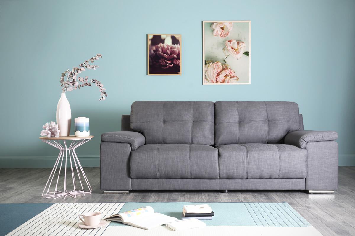 Kansas slate 3 seater sofa