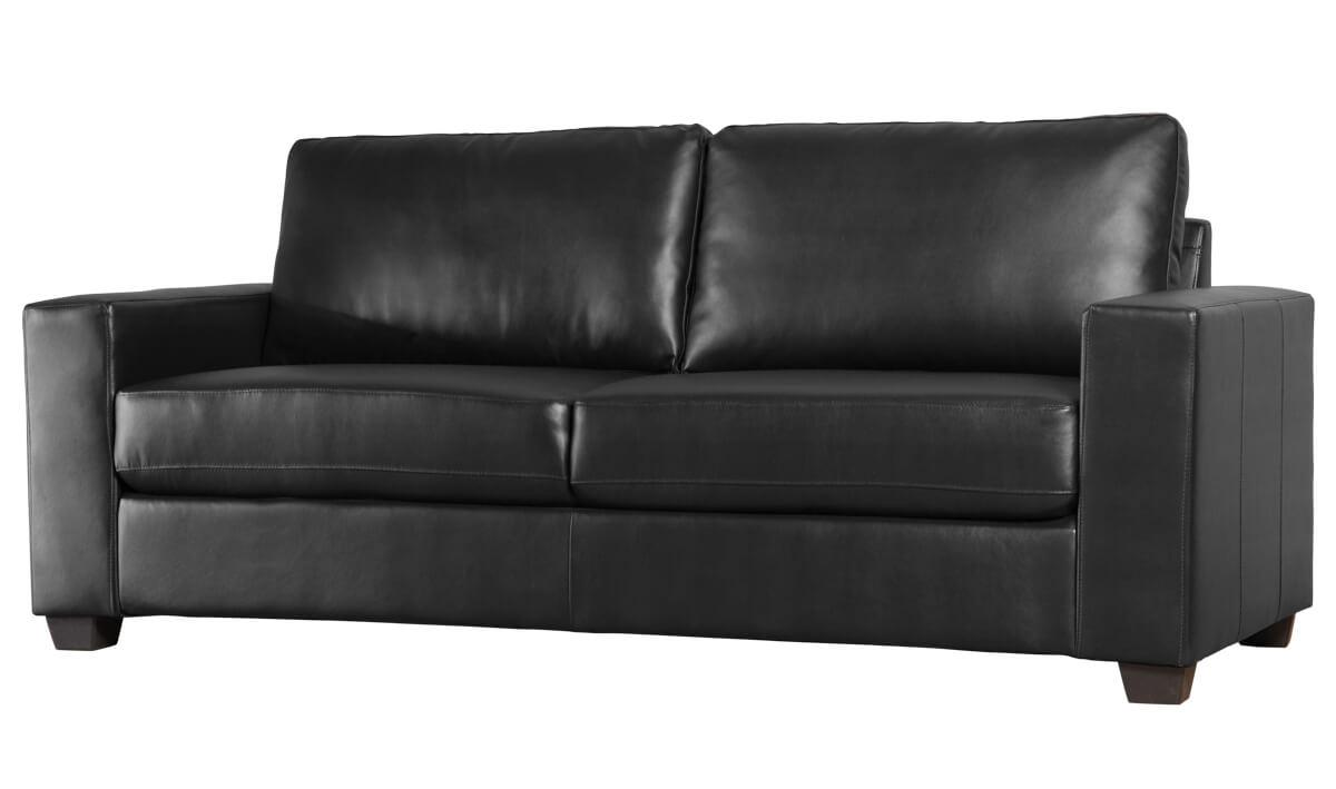 Mission black 3 seater sofa