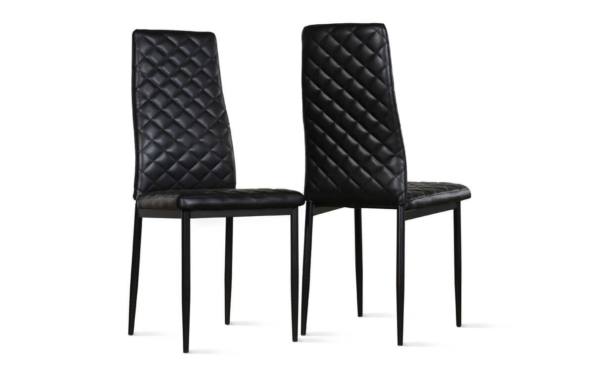 Renzo black chair black leg