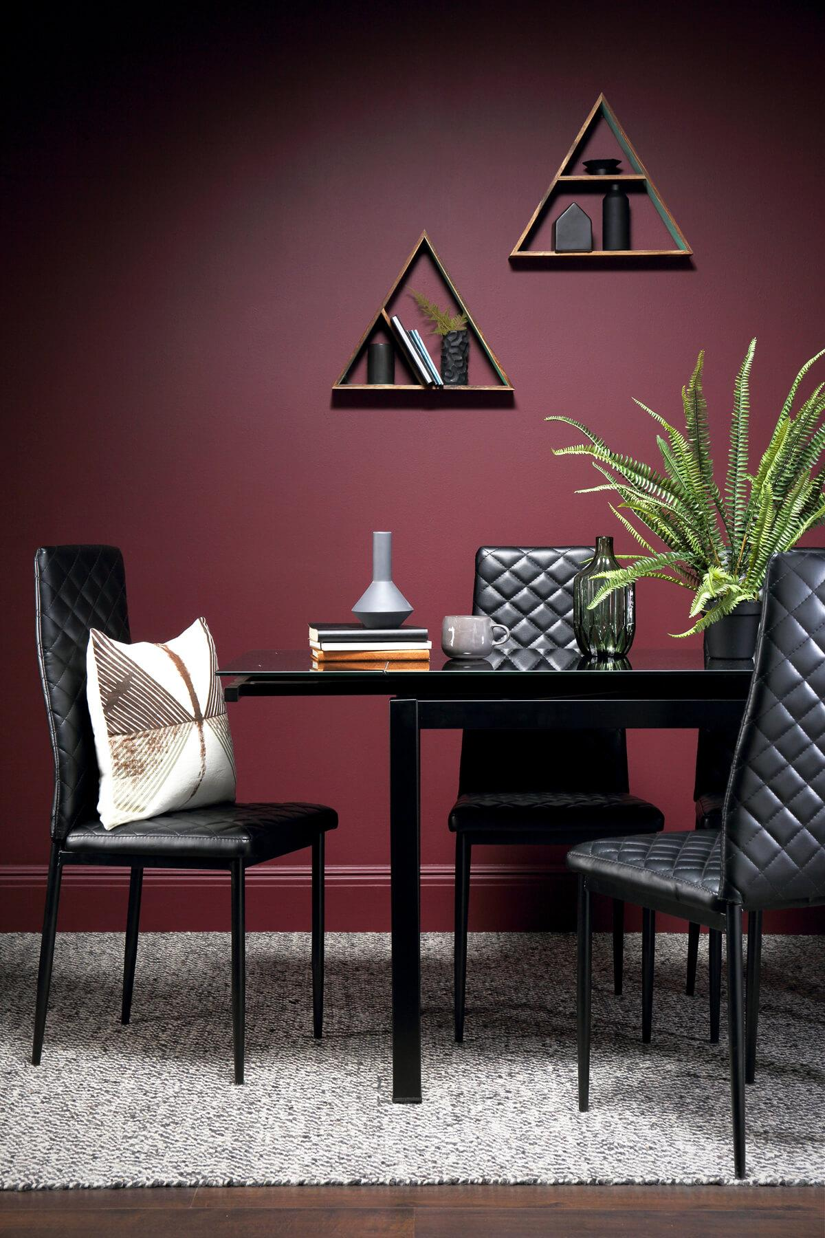 Space black table renzo chair