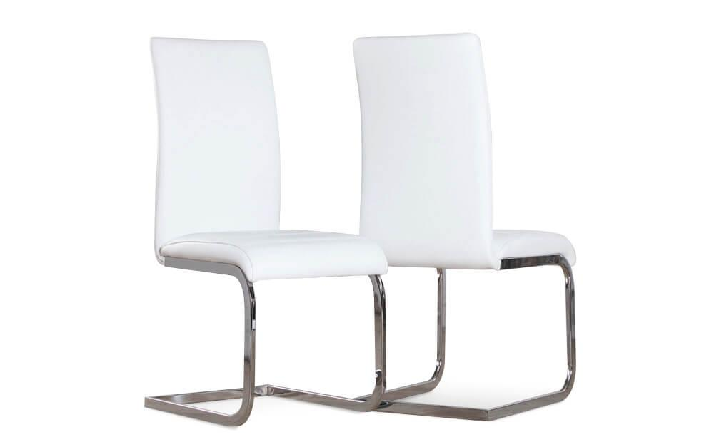 Perth white chrome chair