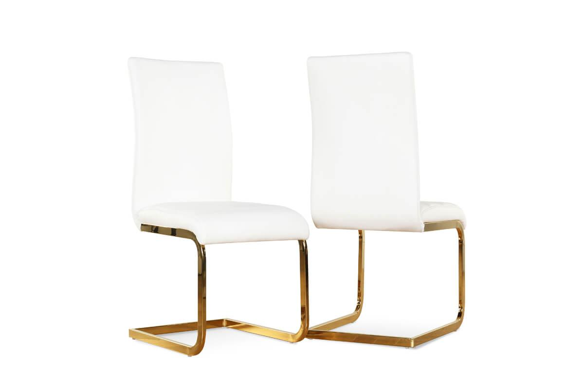 Perth white gold chair