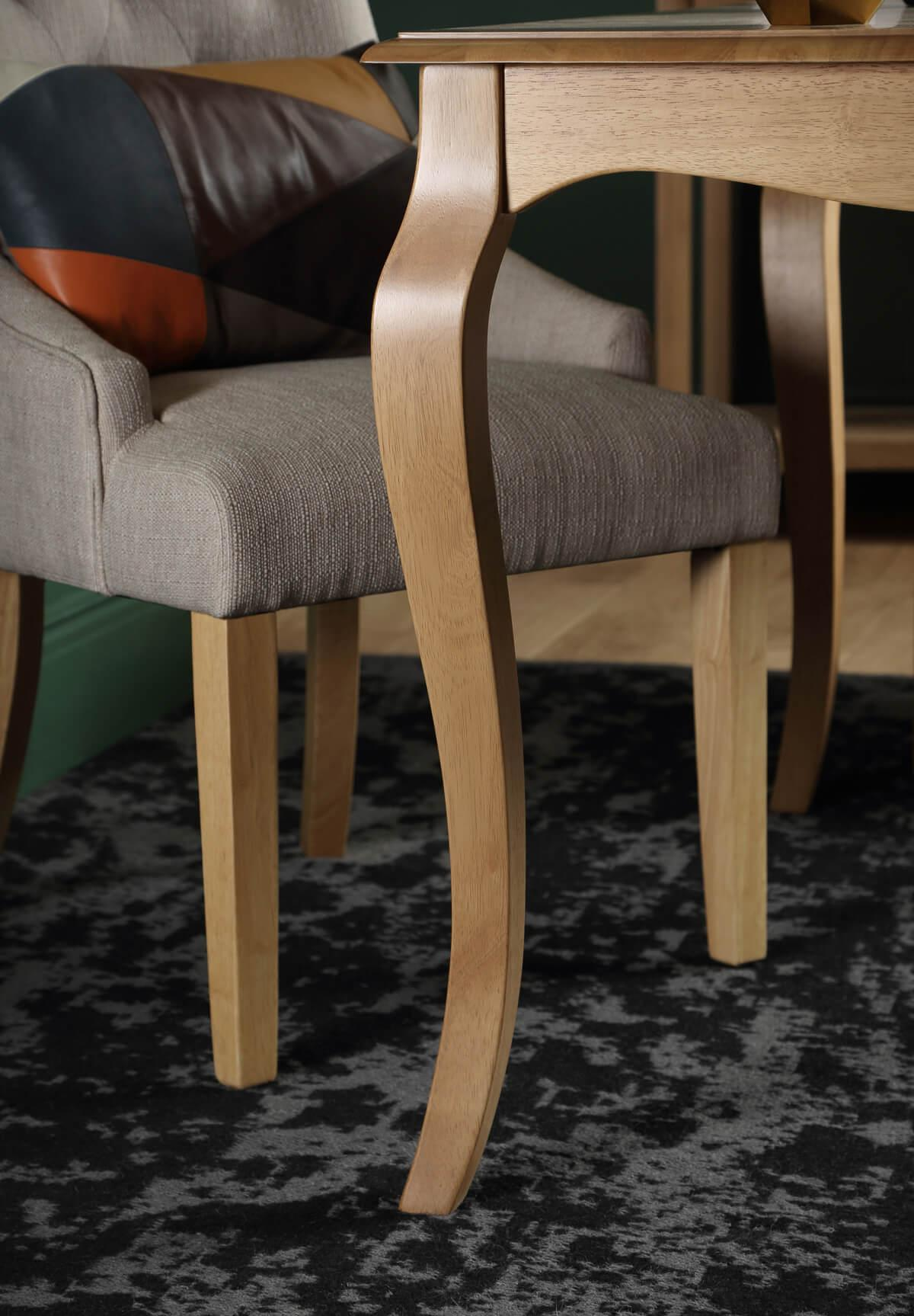 Clarendon oak table Duke chair