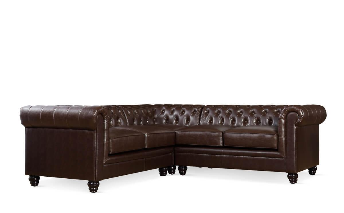 Hampton antique chestnut corner sofa