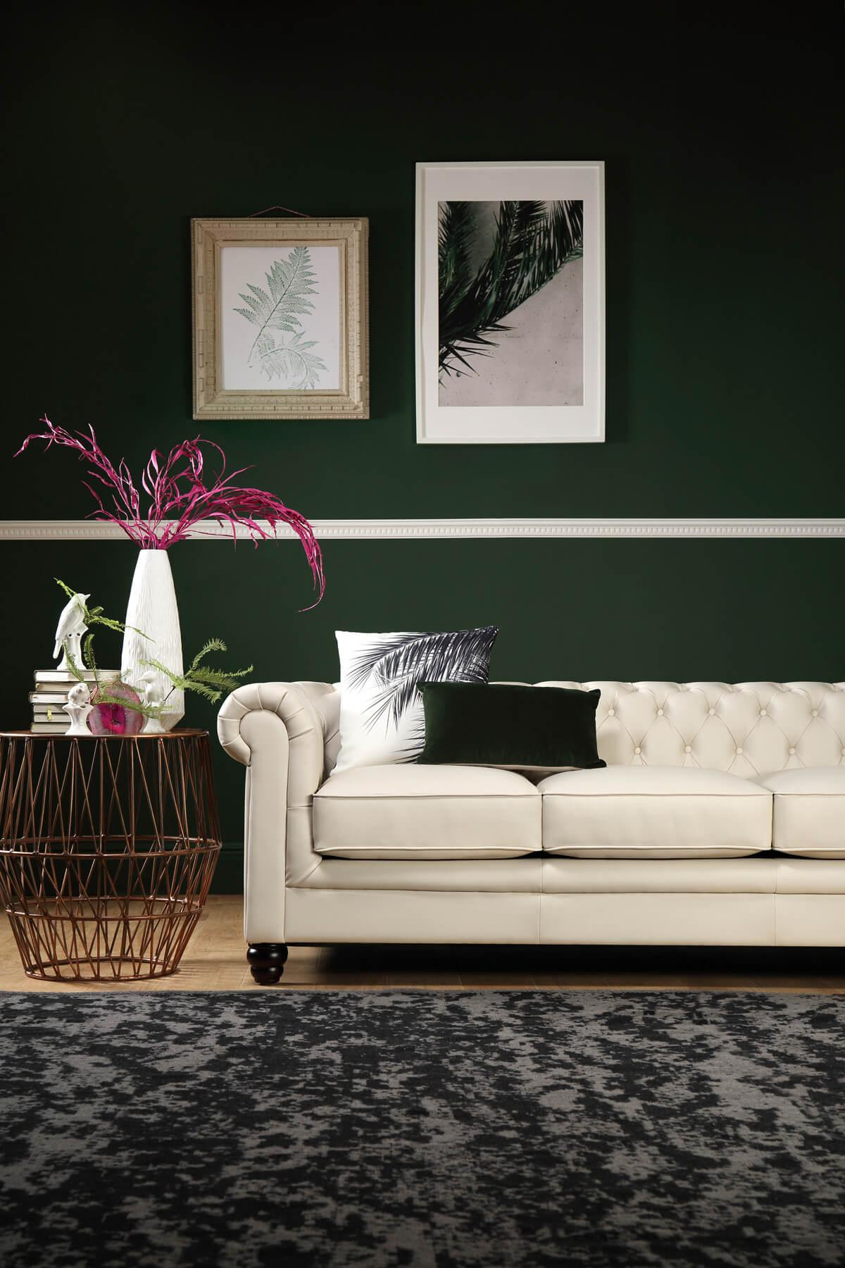 Hampton ivory 3 seater sofa