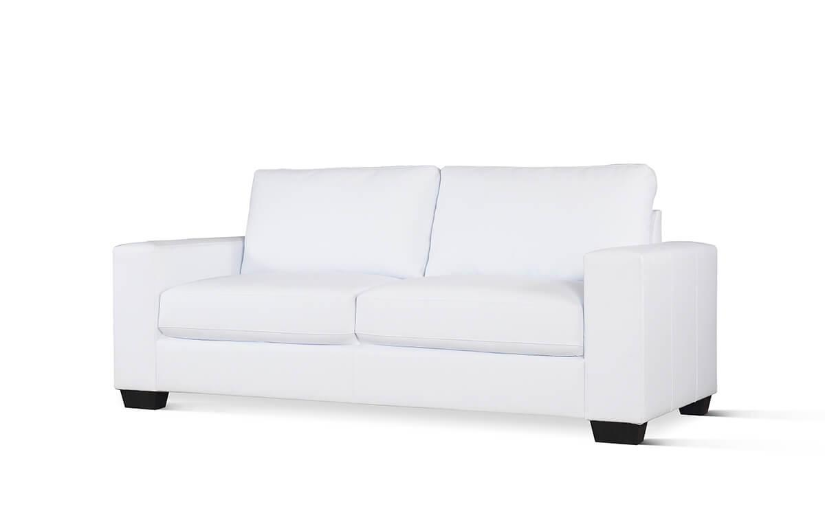 Mission white 3 seater