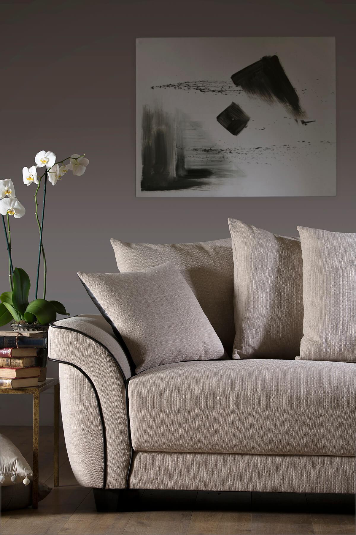 Ascot oatmeal three seater sofa