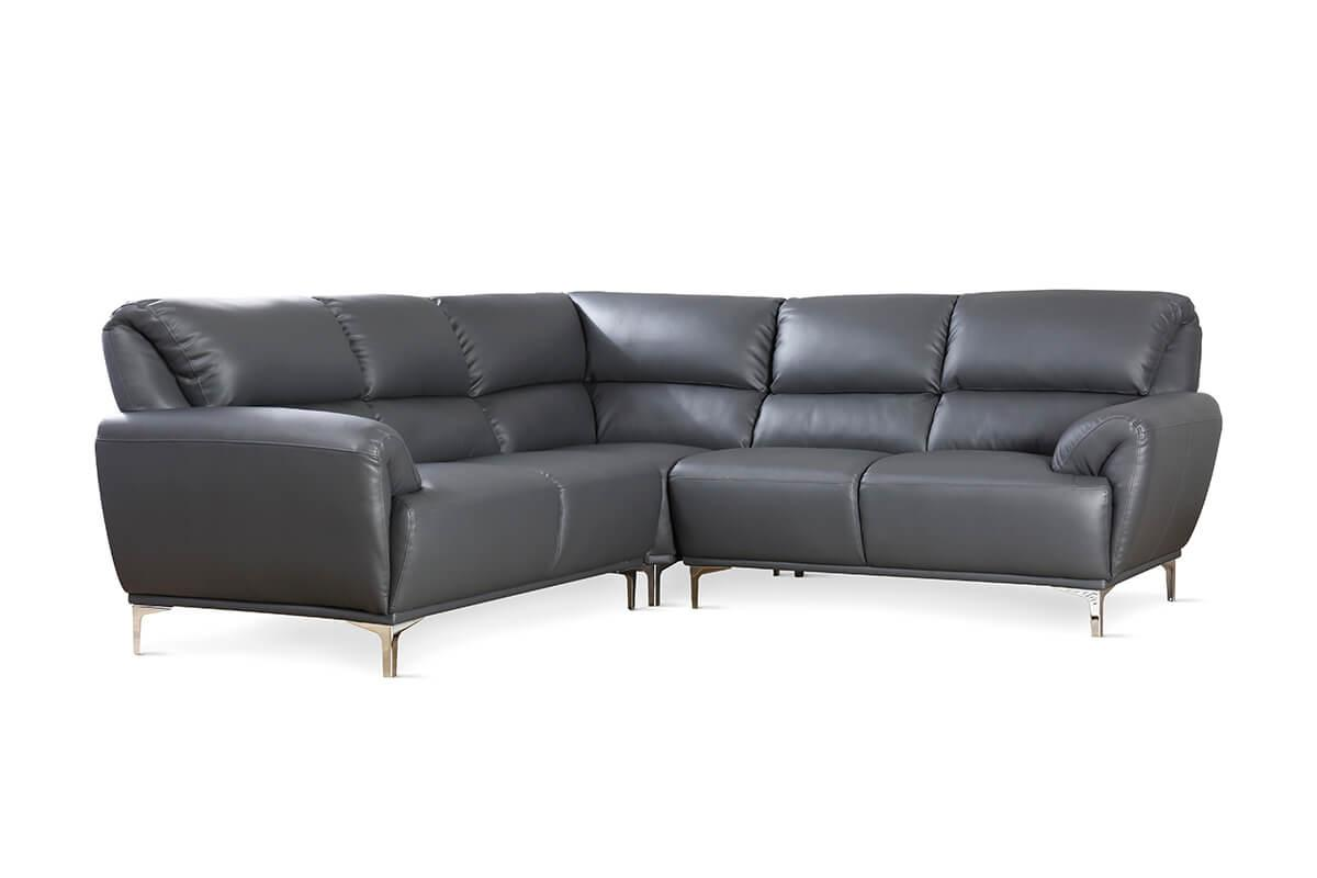 Enzo grey corner sofa