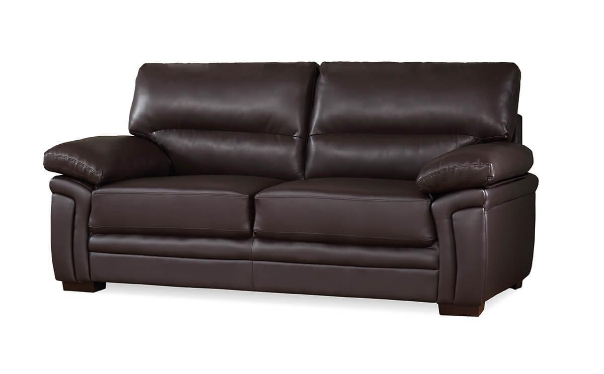 Portman brown three seater sofa