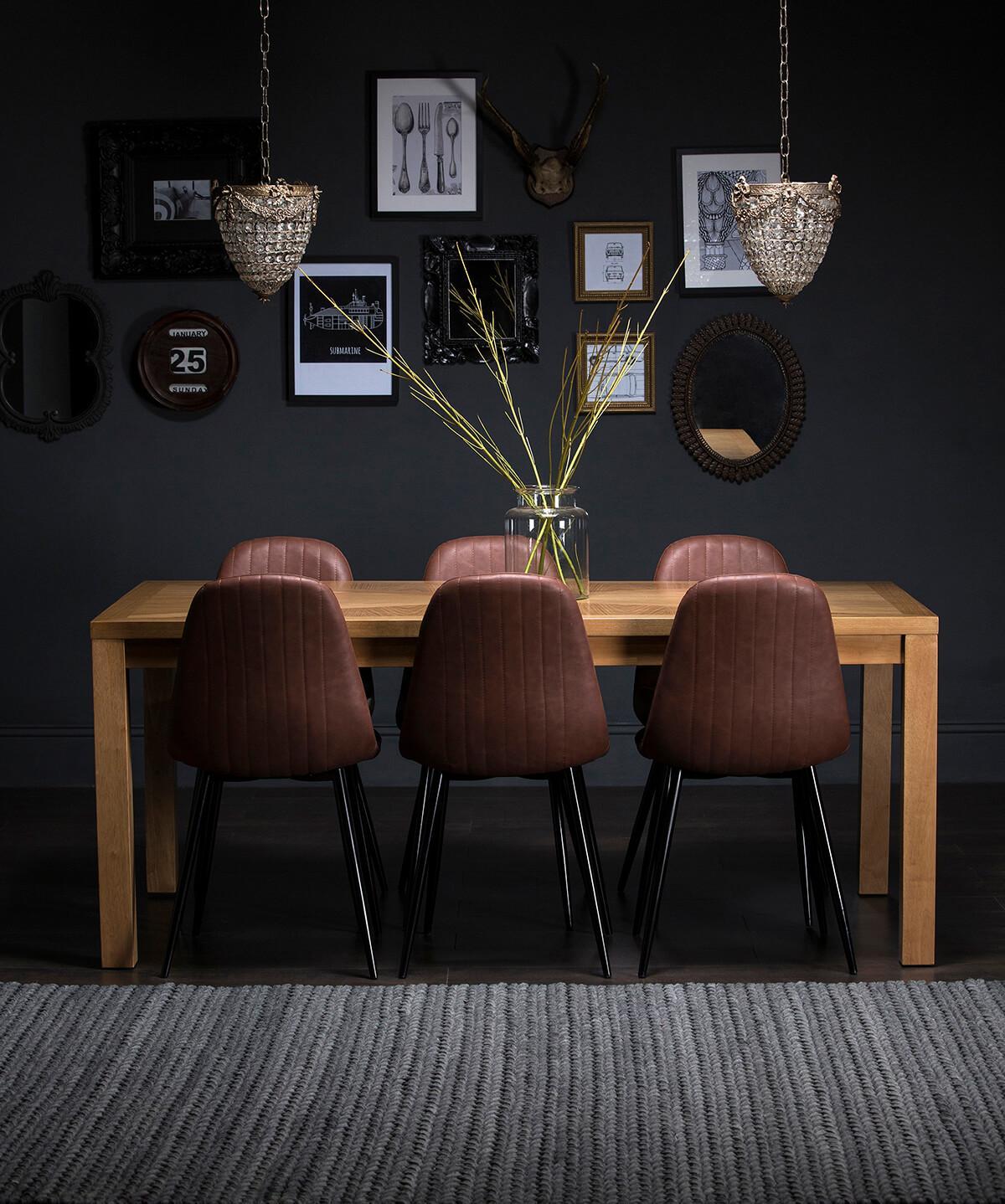 Union oak table Brooklyn chairs
