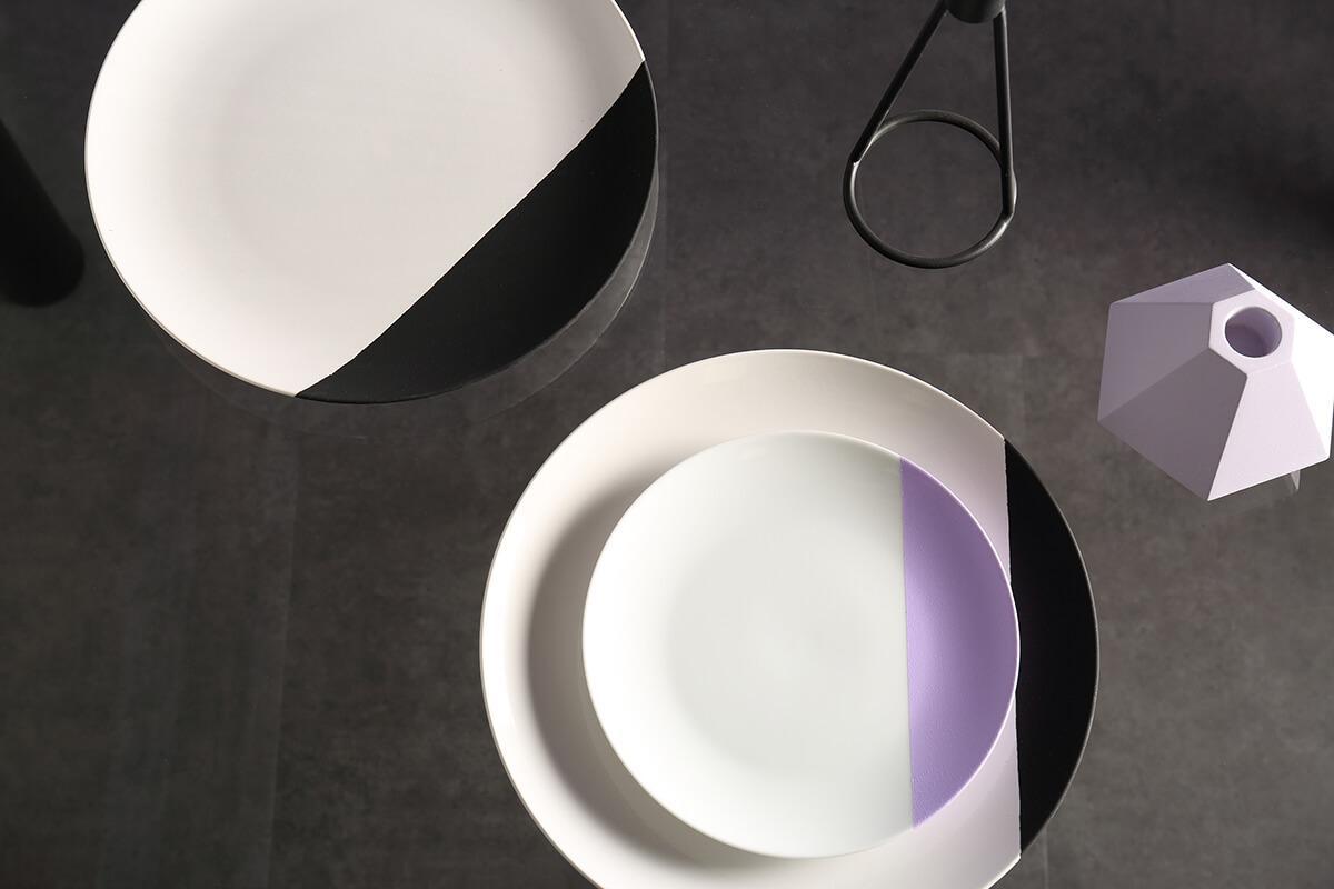 Lunar black and chrome storage table flatlay
