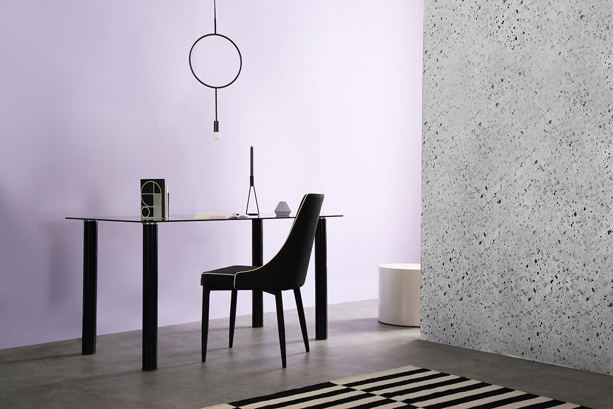 Lunar black and chrome storage table landscape