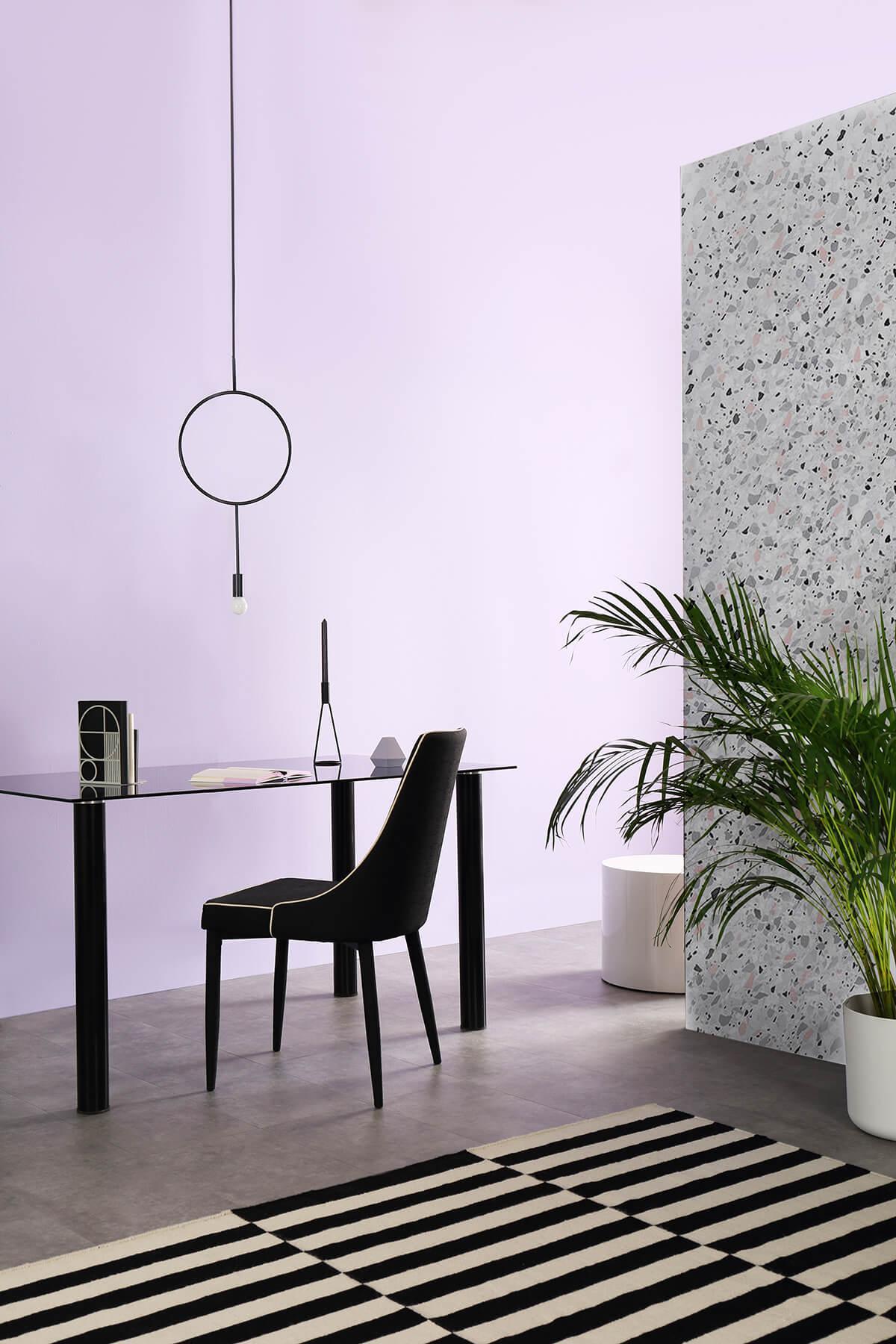 Lunar black and chrome storage table main