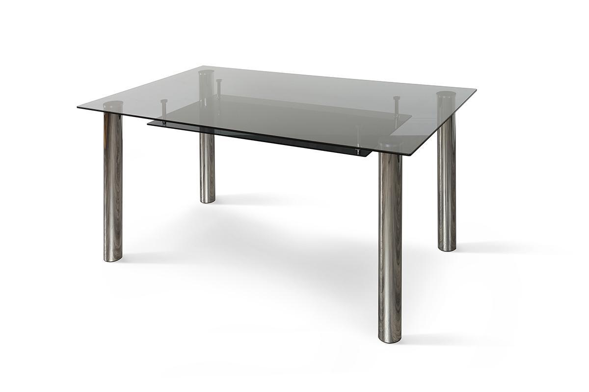 Lunar black and chrome storage table