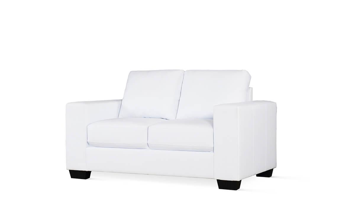 Mission white 2-seater sofa
