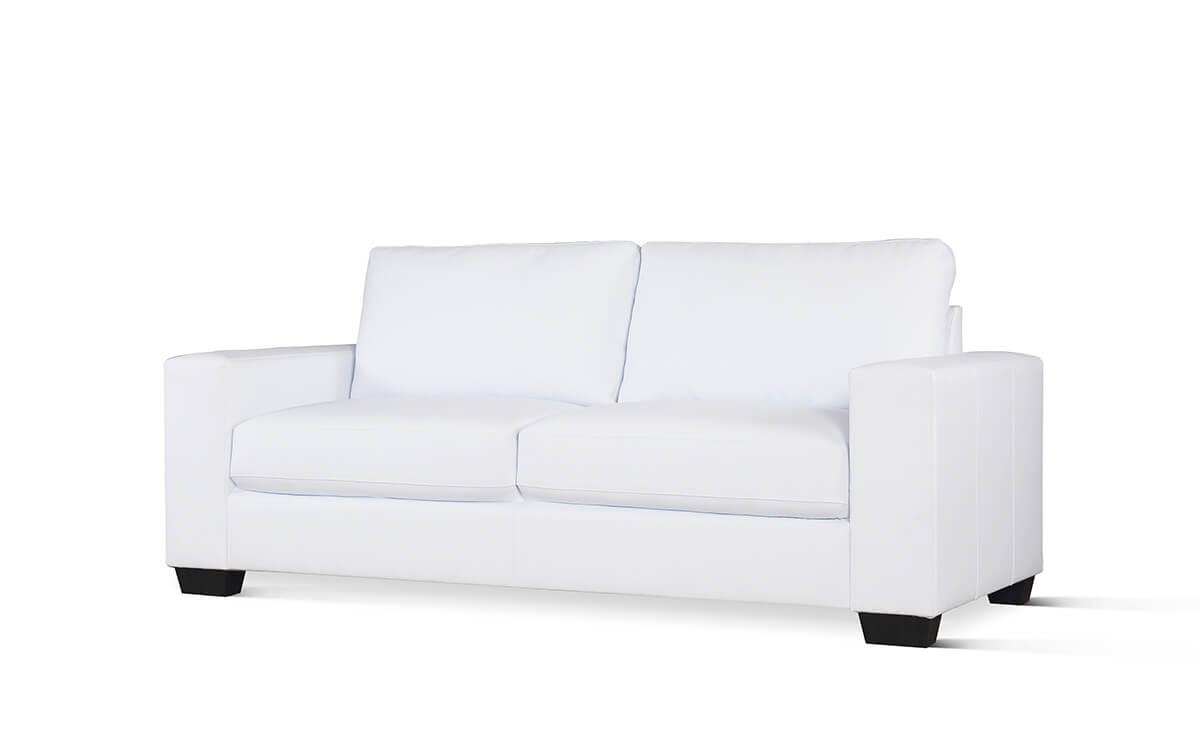 Mission white 3-seater sofa
