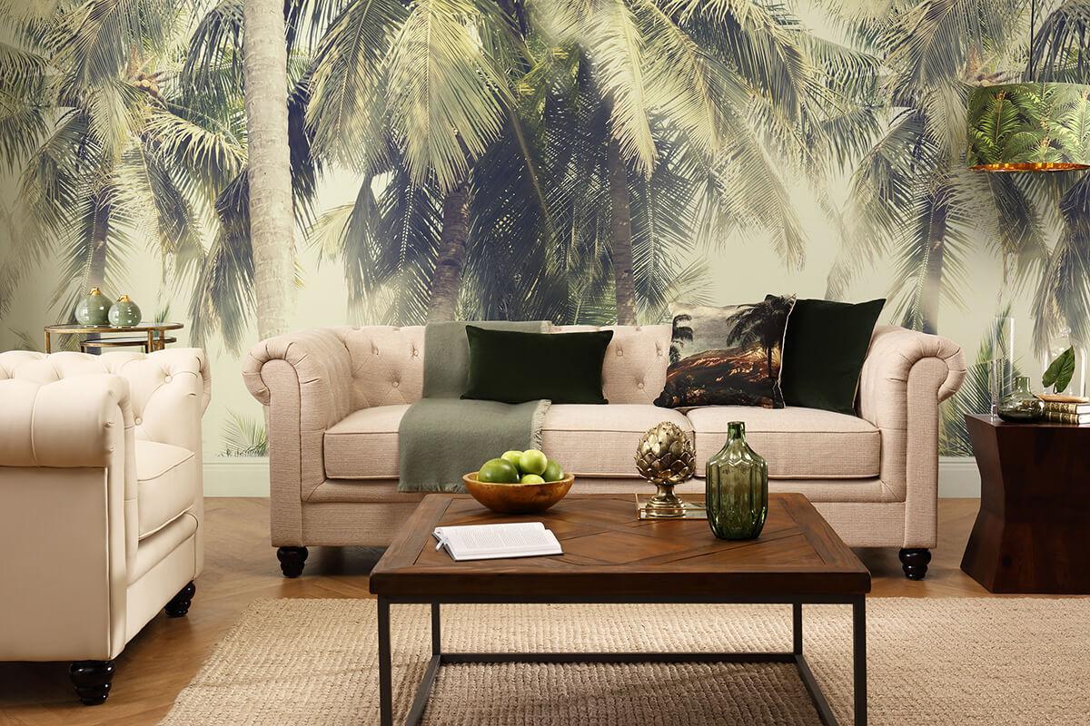 Hampton oatmeal sofa Hampton ivory armchair