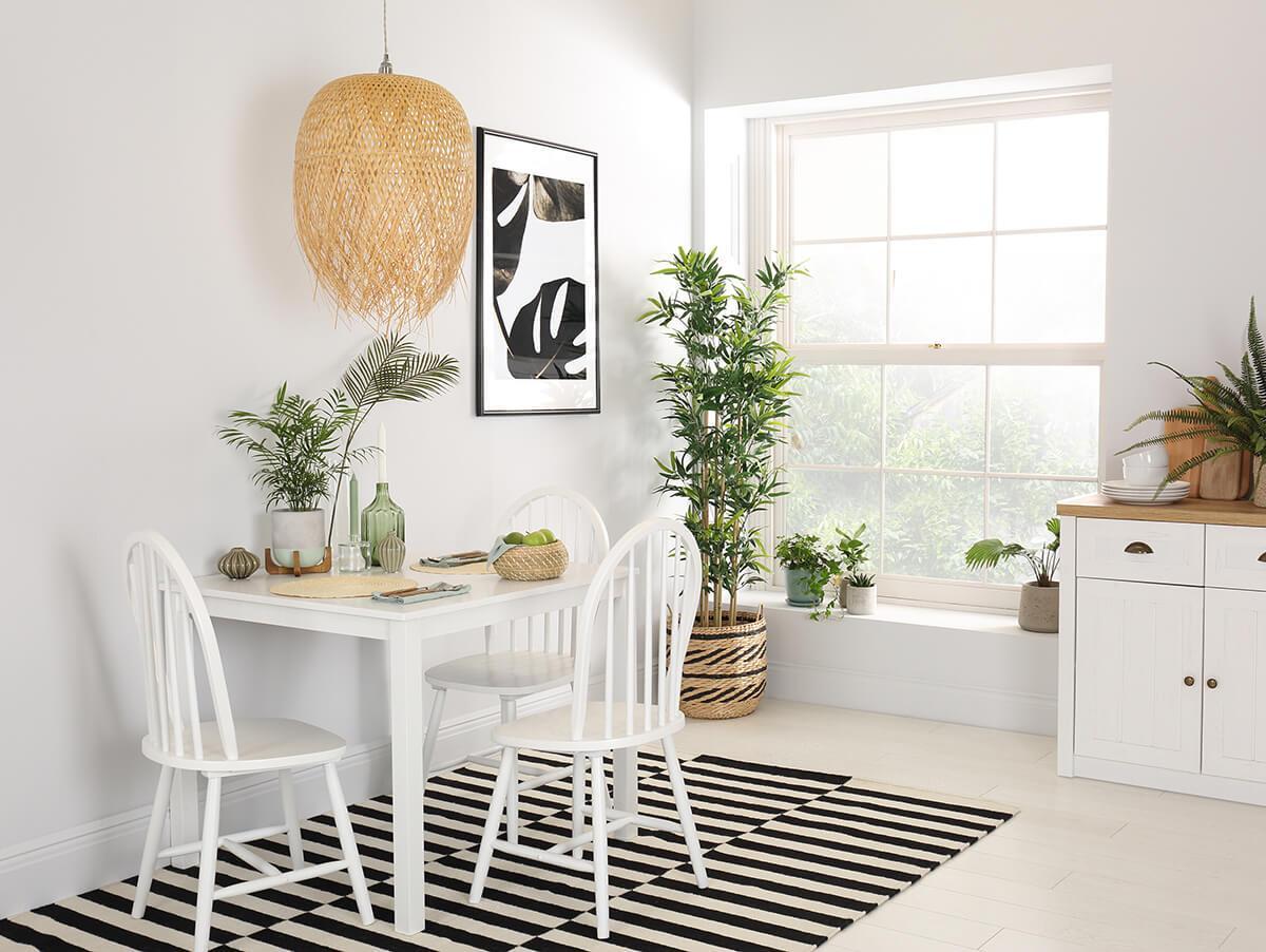 Milton white table Windsor chair