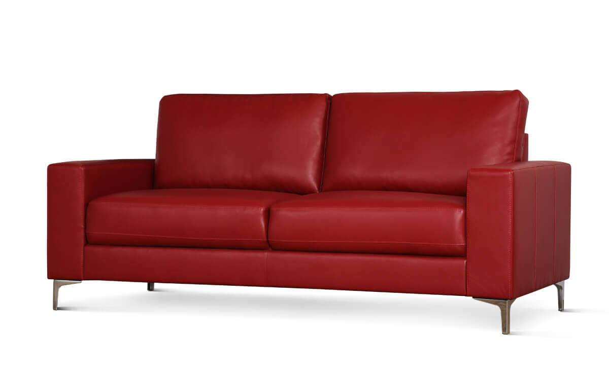 Baltimore red 3 seater sofa