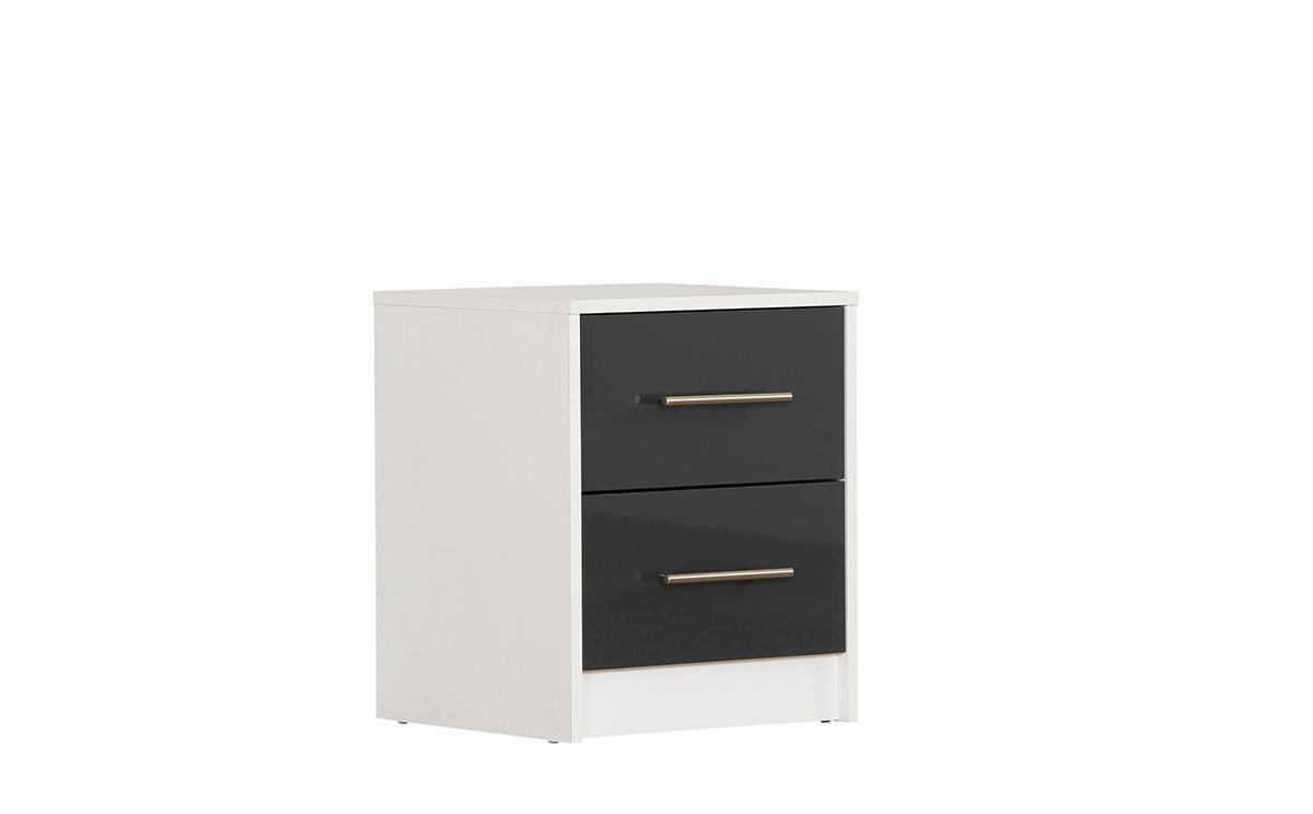 bloomsbury grey gloss bedside cabinet