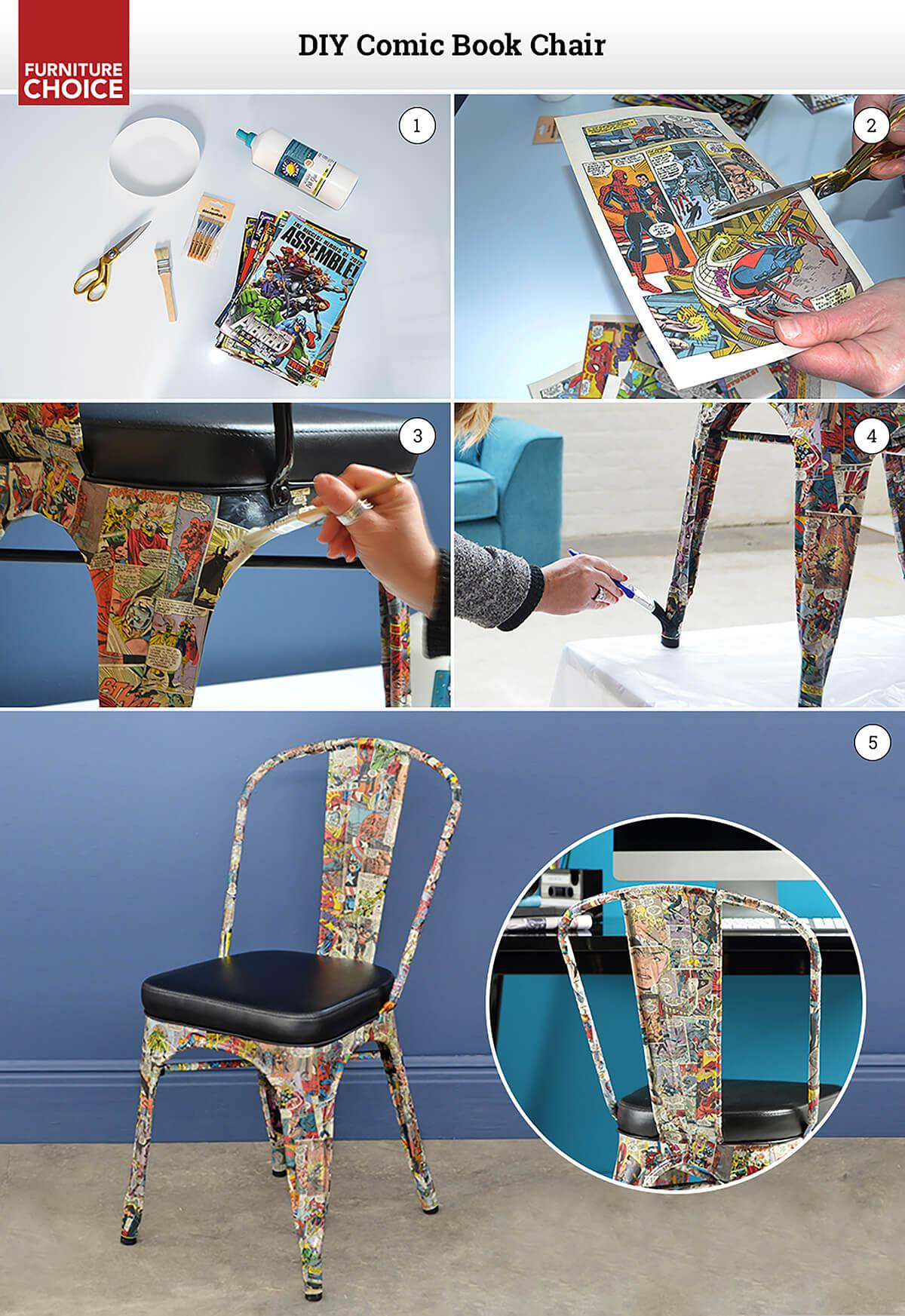 DIY comic book chair