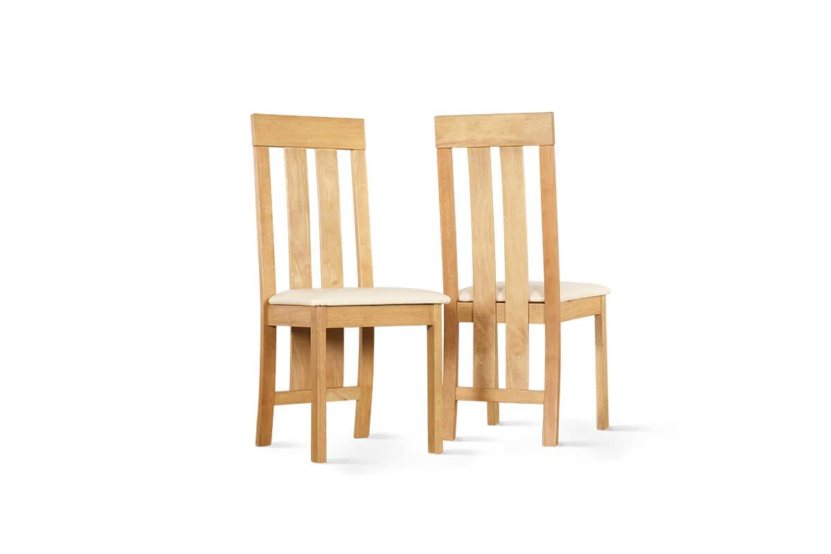 Chester oak ivory chairs